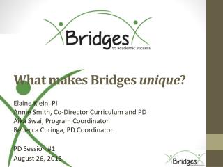 What makes Bridges  unique ?