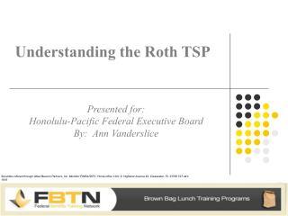 Understanding the Roth TSP