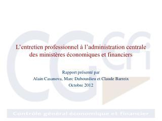 L'entretien professionnel à l'administration centrale des ministères économiques et financiers