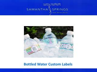 Bottled Water Custom Labels
