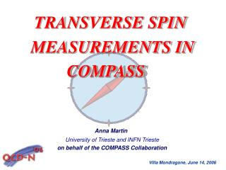 TRANSVERSE SPIN  MEASUREMENTS IN