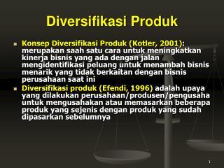 Diversifikasi Produk