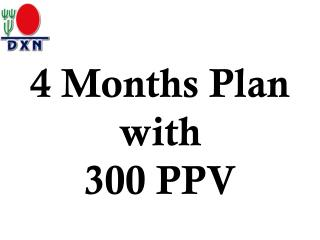 4  Months Plan with 300 PPV