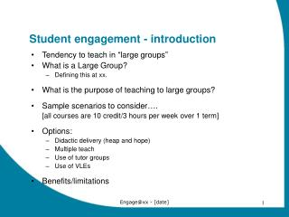 Student engagement - introduction
