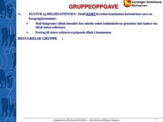 GRUPPEOPPGAVE