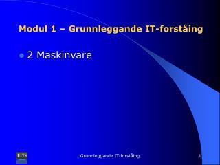 Modul 1 – Grunnleggande IT-forståing