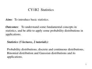 CY1B2  Statistics