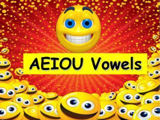 AEIOU Vowels