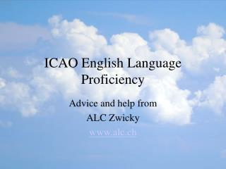 ICAO English Language Proficiency