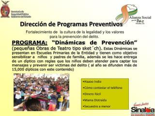 Dirección de Programas Preventivos