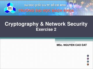 Cryptography & Network Security Exercise 2
