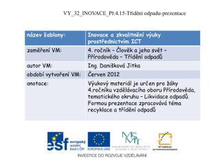 VY_32_INOVACE_Př.4.15-Třídění  odpadu-prezentace