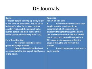 DE Journals