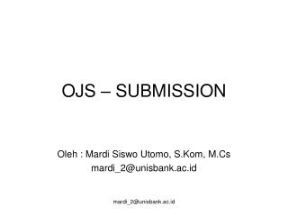 OJS – SUBMISSION