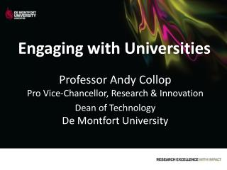 Engaging with Universities