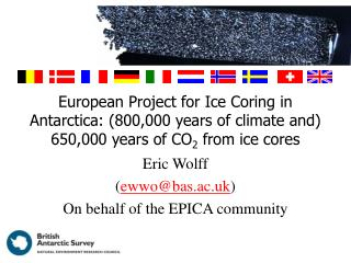 European Project for Ice Coring in Antarctica: 800,000 years of climate and 650,000 years of CO2 from ice cores