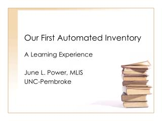 Our First Automated Inventory