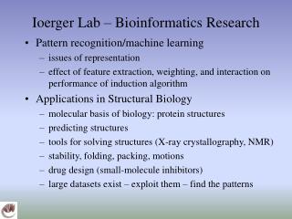 Ioerger Lab � Bioinformatics Research