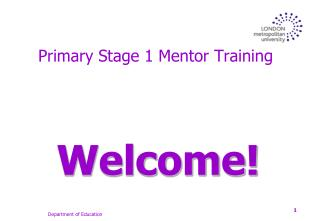 Primary Stage 1 Mentor Training