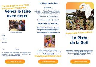 Depuis 1985, une association intercommunale du Loiret La Chapelle-St-Mesmin, Chaingy, Ormes, Ingr , Saint-Jean-de-la-Rue
