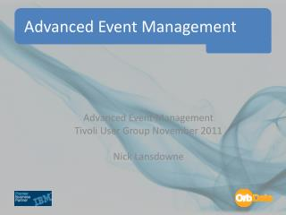 Advanced Event Management