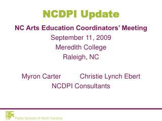 NCDPI Update