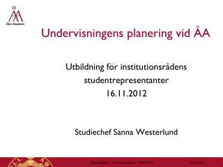 Undervisningens planering vid ÅA