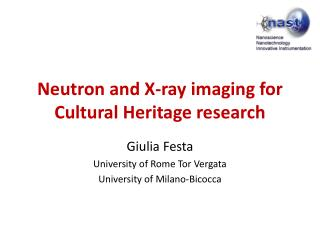 Neutron  and X- ray imaging  for Cultural Heritage  research