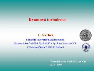Kvantová turbulence