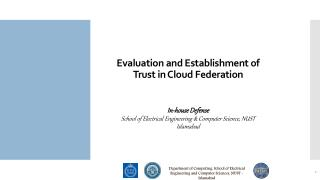 Evaluation and Establishment of Trust in Cloud Federation