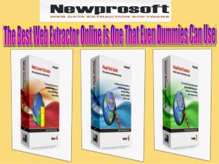 The Best Web Extractor Online is One That Even Dummies Can U