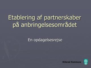 Etablering af partnerskaber på anbringelsesområdet