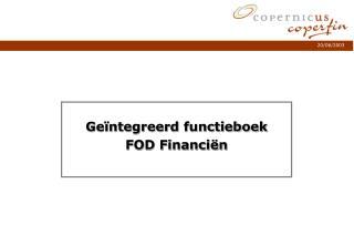 Ge ntegreerd functieboek FOD Financi n