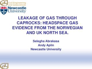 LEAKAGE OF GAS THROUGH  CAPROCKS: HEADSPACE GAS EVIDENCE FROM THE NORWEGIAN AND UK NORTH SEA.
