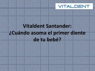Vitaldent Santander: ¿Cuándo aparecen los primeros dientes?