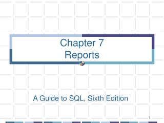 Chapter 7 Reports