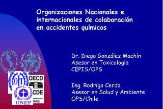Organizaciones Nacionales e  internacionales de colaboración  en accidentes químicos