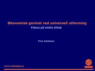 Økonomisk gevinst ved universell utforming