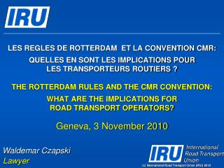 C International Road Transport Union IRU 2010