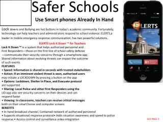 Safer Schools    Use Smart phones  Already In Hand