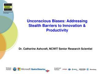 Dr. Catherine Ashcraft, NCWIT Senior Research Scientist