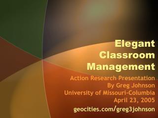 Elegant Classroom Management