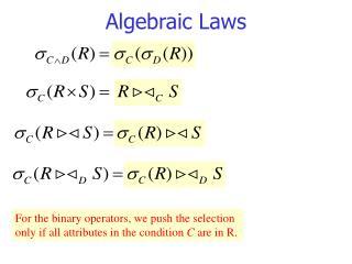 Algebraic Laws