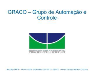 GRACO � Grupo de Automa��o e Controle