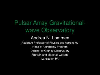 Pulsar Array Gravitational-wave Observatory