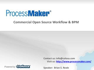 Commercial Open Source Workflow & BPM