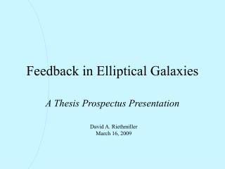 Feedback in Elliptical Galaxies