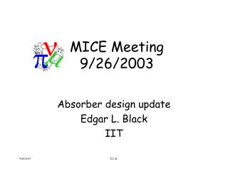 MICE Meeting 9/26/2003