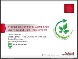 Product Environmental Compliance: Overview and Data Requirements