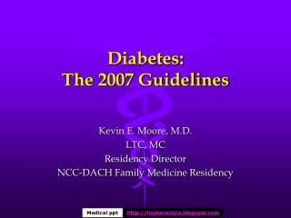 Diabetes: The 2007 Guidelines